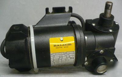 Baldor dcpm industrial electric motor 1 15 hp 19 6rpm for Baldor 15 hp motor