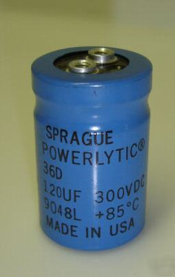 - 300V-120UF-screw-radial-capacitor-85C-sprague-36D-3-pc-img