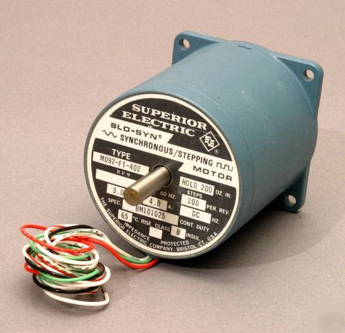 New Synchonous Stepper Motor By Superior Electric