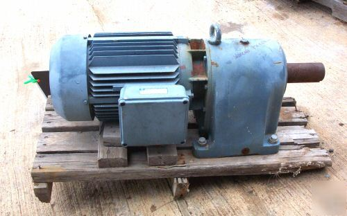 Industrial Approx 15 Hp Electric Gear Motor 480 Volt