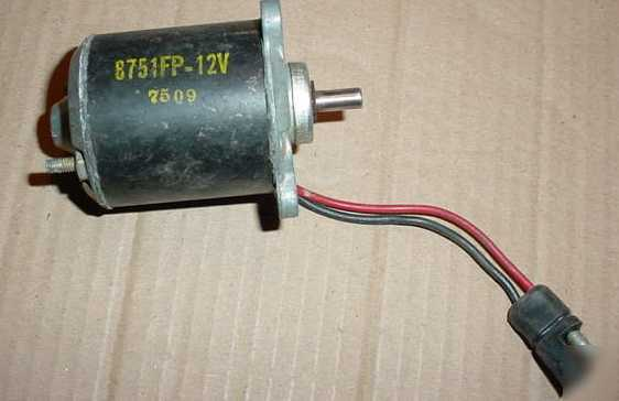 Used small 8751fp 12 volt 7509 electric motor for Small 12 volt motors