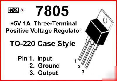 UA7805 7805 5V 1A pos regulator to-220 ( 16-pack )