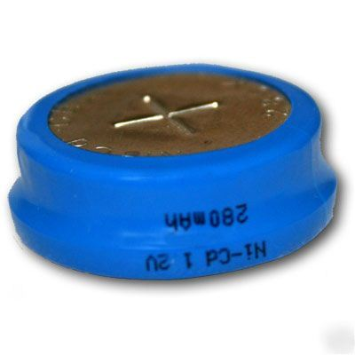 Rechargeable Button Cell 280mah Nicd 1 2v Cmos Battery