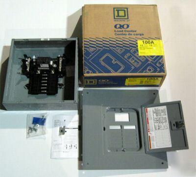 Square D Qo Load Center 100 Amp Circuit Breaker Box