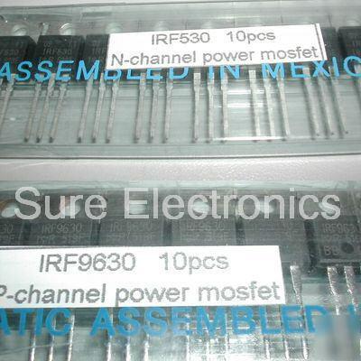 20PCS IRF530 & IRF9630 power mosfet kit